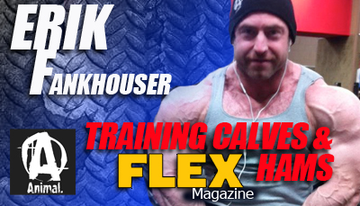 Erik Fankhouser Training Calves and hamstrings