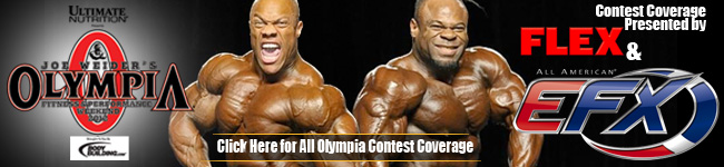 Flex Magazine's Olympia Contest Coverage