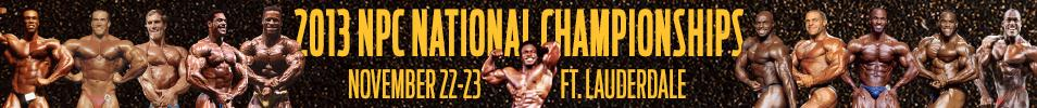 2013 NPC National Bodybuilding Championships Event banner