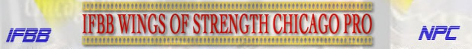 2014 IFBB Wings of Strength Chicago Pro Event banner