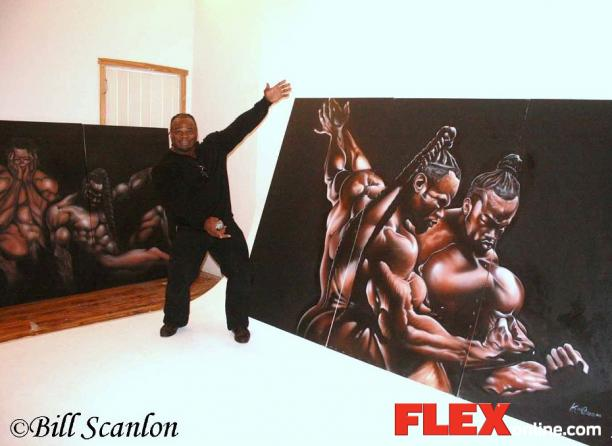 Kai Greene Painting Of Kai Greene Paintings Kai Greene Bodybuilder Car Interior