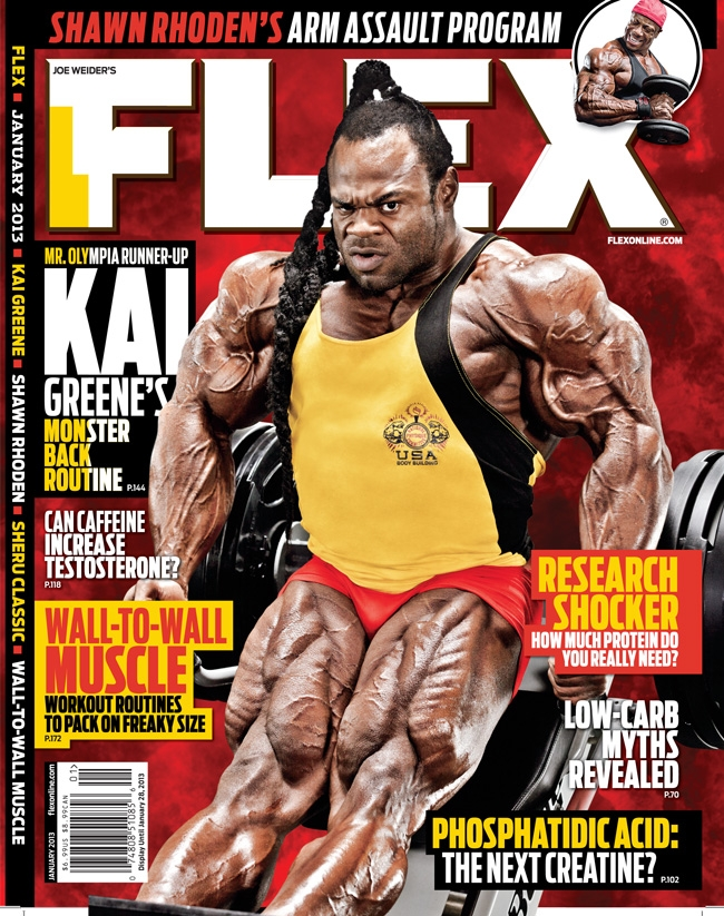 Article: Kai Greene on the next FLEX magazine cover! January 2013 issue.